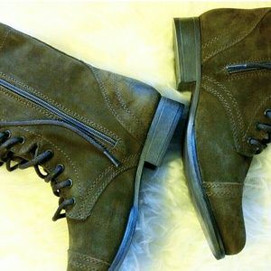 💎NIB Steve Madden Green Suede Combat Boots